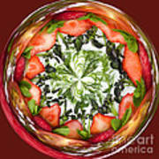 A Round Of Fresh Fruit Salad Art Print by Anne Gilbert