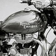 A Royal Enfield Motorbike Art Print