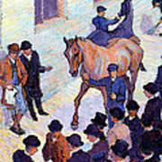 A Sale At Tattersalls, 1911 Art Print by Robert Polhill Bevan