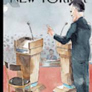 A Scene From The Presidential Debate Art Print