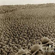 A Sea Of Helmets World War One 1918 Art Print
