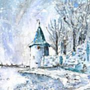 A Seagull In Winter In Lindau Art Print