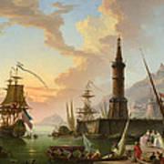 A Seaport Art Print