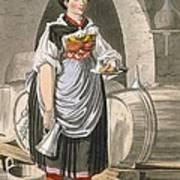 A Serving Girl At An Inn Art Print