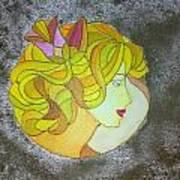 A Shy Lady Art Print