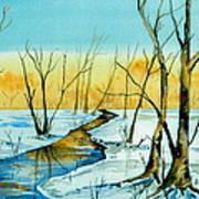 A Sign Of Winter Art Print