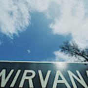 A Sign That Reads Nirvana Art Print