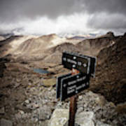 A Signed Trail Junction On The Way Art Print