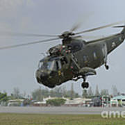 A Sikorsky S-61a4 Helicopter Art Print