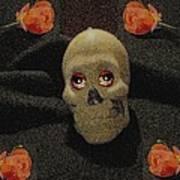 A Skull In The Dark Pop Art Art Print