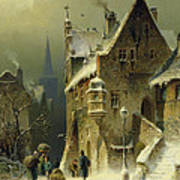 A Small Town in the Rhine Art Print