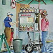 A Snocone For A Child In San Juan Pr Art Print