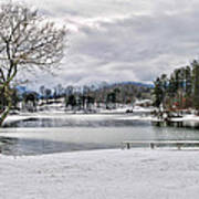A Snowy Day On Lake Chatuge Art Print
