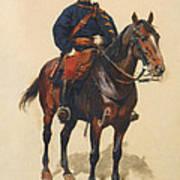 A Soldier Cavalerie Art Print