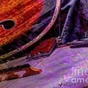 A Southern Combination Digital Banjo And Guitar Art By Steven Langston Art Print by Steven Lebron Langston