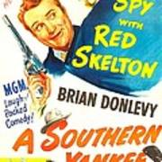 A Southern Yankee, Us Poster, Red Art Print