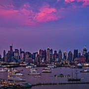 A Spectacular New York City Evening Art Print by Susan Candelario