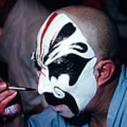 A Spooky Kabuki Art Print