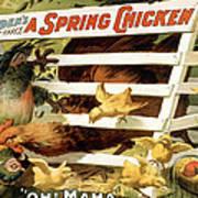 A Spring Chicken Art Print