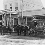 A Stagecoach In Tombstone Art Print