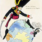 A Stoppage To A Stride Over The Globe, 1803 Litho Art Print