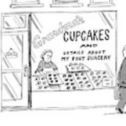 A Storefront Reads: Grandma's Cupcakes Art Print