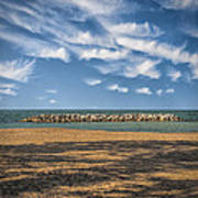 A Storm Barrier On Presque Isle Art Print