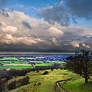 A Storm Over English Countryside With Dramatic Cloud Formations  Art Print