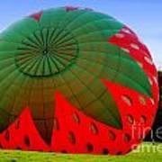 A Strawberry Balloon Art Print