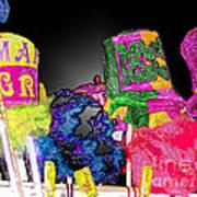A Street Vendor's Mardi Gras In Plastic Wrap Art Print