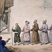 A String Of Blind Beggars, Cabul, 1843 Art Print