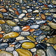 A Stroll Along The Beach Art Print by Heather Matthews