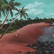 A Stroll On A Tropical Beach Art Print