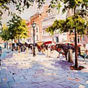 A Stroll On Stephens Green Art Print