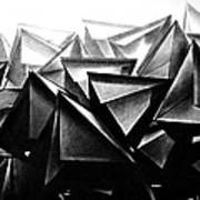 A Structure Rises Art Print