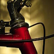 A Study In Scarlet Bicycle Art Print by Guy Ricketts