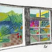A Summer Garden Art Print by Bav Patel
