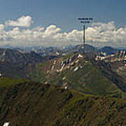 A Summit View Panorama With Peak Labels Art Print