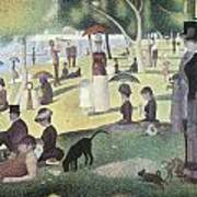 A Sunday Afternoon On The Island Of La Grande Jatte Art Print by George-Pierre Seurat