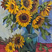 A Sunflower Day Art Print