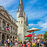 A Sunny Afternoon In Jackson Square Art Print