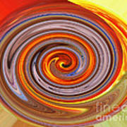 A Swirl Of Colors From The Sun And Earth Art Print