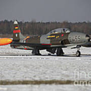 A T-33 Shooting Star Trainer Jet Print by Timm Ziegenthaler