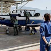 A T-6 Texan Trainer Of The Hellenic Air Art Print