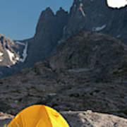 A Tent Is Dwarfed By The High Peaks Art Print