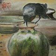 A Thirsty Crow Art Print by Prasenjit Dhar