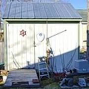 A Tool Shed In The Back Yard Art Print