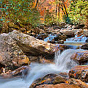 A Touch Of Autumn At Skinny Dip Falls Art Print