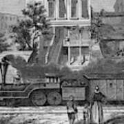 A Train Of The Camden & Amboy Art Print