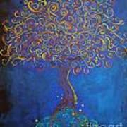 A Tree Of Orbs Glows Art Print